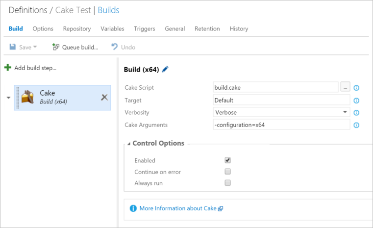 Configure Custom Build Step